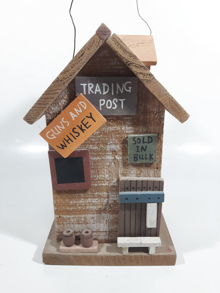 Guns and Whiskey Trading Post Themed Highly Detailed Hanging Birdhouse Style Wood Building Model