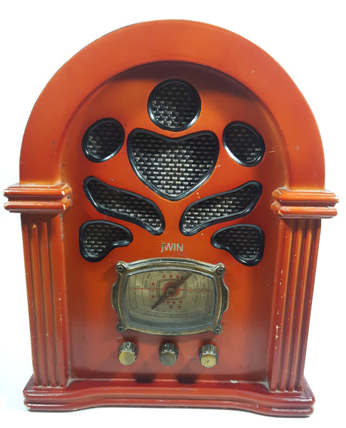 JWIN Nostalgia JK-111 Deluxe Wood Cabinet Retro Style AM/FM/TV Radio