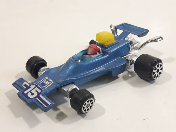 Vintage Summer Marz Karz S8015 Smadow DN4 Formula-1 Elf #15 Blue Die Cast Toy Car Vehicle Missing a Wheel