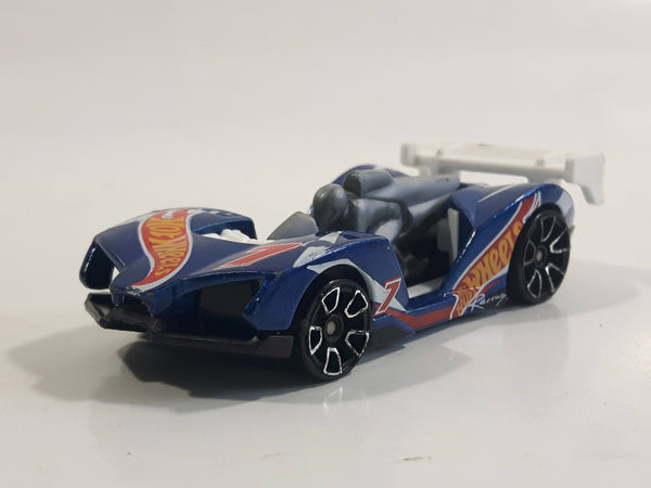 2014 Hot Wheels HW Race: HW Race Team Imparable Metalflake Blue Die Cast Toy Car Vehicle