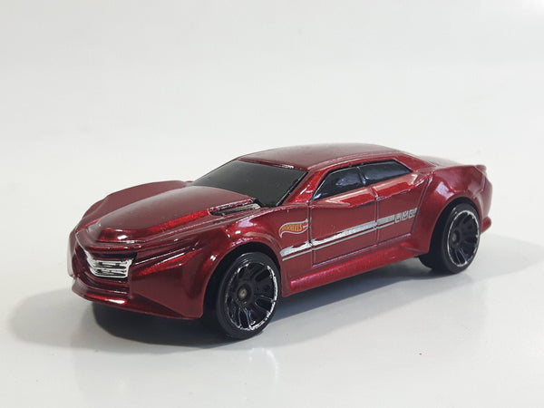 2014 Hot Wheels HW City: HW City Works Ryura LX Metalflake Dark Red Die Cast Toy Car Vehicle