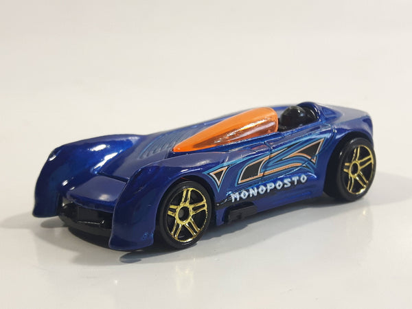 2015 Hot Wheels Monoposto Blue Die Cast Toy Car Vehicle