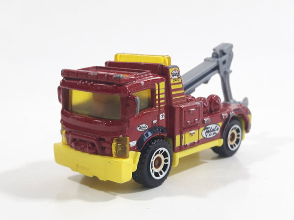2014 Matchbox MBX Adventure City Urban Tow Truck Red Die Cast Toy Car Vehicle