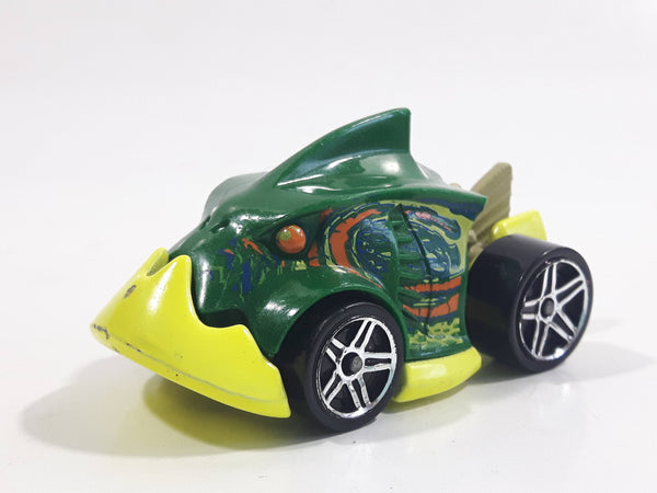 2011 Hot Wheels Creature Cars Piranha Terror Dark Green Die Cast Toy Car Vehicle