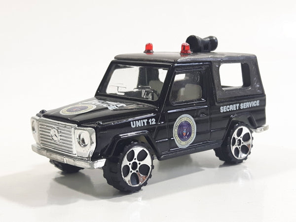 Realtoy MB Mercedes Benz G-Wagon Secret Service Unit 12 Black 1/57 Scale Die Cast Toy Car US Government Spy Intel Vehicle