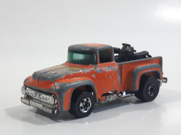 1978 Hot Wheels The Heavies '56 Hi-Tail Hauler Orange Ford Pickup Truck Die Cast Toy Car Vehicle - Hong Kong
