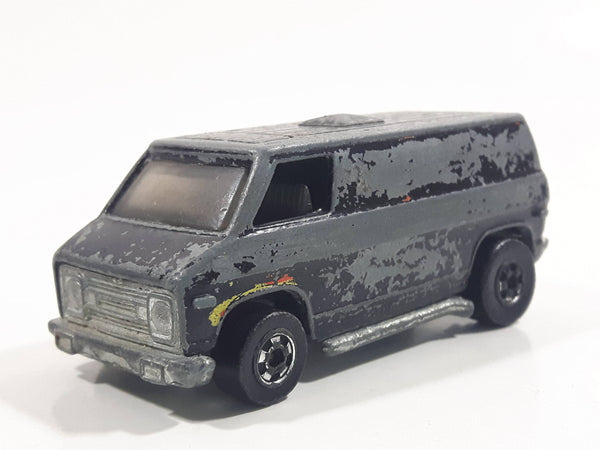 Vintage 1977 Hot Wheels Flying Colors Super Van Enamel Black Die Cast Toy Car Vehicle BW - Hong Kong