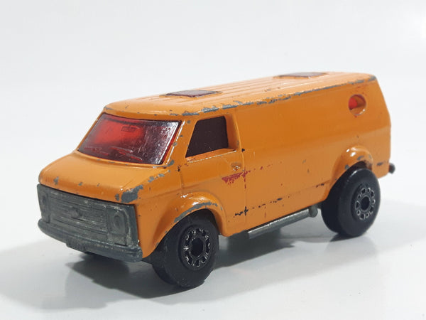 Vintage 1979 Lesney Matchbox Superfast No. 68 Chevy Van Orange Die Cast Toy Car Vehicle