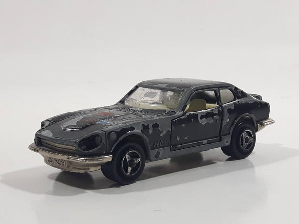 Majorette No. 229 Datsun 260 Z Black 1/60 Scale Die Cast Toy Car Vehicle with Opening Doors