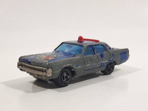 Vintage Majorette Plymouth Fury Police Blue 1/70 Scale Die Cast Toy Car Vehicle Made in France