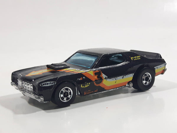 Vintage 1979 Hot Wheels Torino Stocker Black Die Cast Toy Car Vehicle