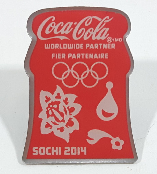2014 Sochi Russia Winter Olympic Games Coca Cola Bottle Top Portion Lapel Pin