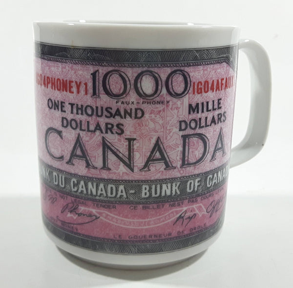 "Novelty Collectible ""This Coffee Is Worth"" $1000 Canadian Bill Currency Cash Money Ceramic Coffee Mug"