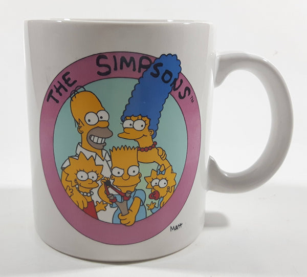 "1990 Twentieth Century Fox Film Corporation The Simpsons ""One of the Bunch..."" Cartoon Family Characters Ceramic Coffee Mug - BananAppeal"