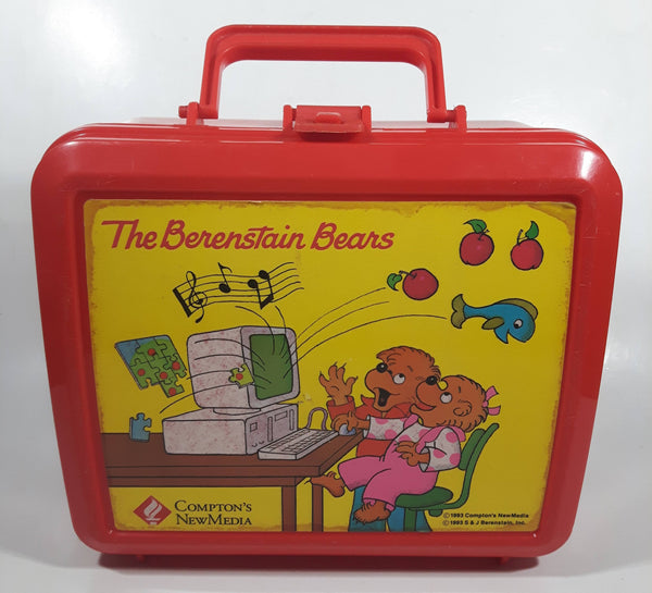 1993 Compton's NewMedia The Berenstain Bears Red Plastic Aladdin Lunch Box - No Thermos
