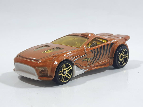 2013 Hot Wheels Street Beasts Scorcher Metallic Orange Die Cast Toy Car Vehicle