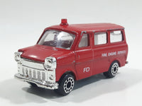 Vintage 1977 Zylmex P335 Fire Fighting Ford Van Red Die Cast Toy Car Vehicle Missing the Rear Cargo Door