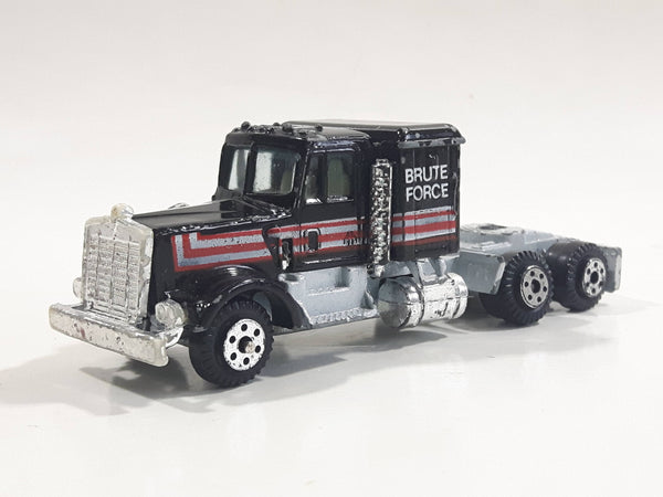 "Yatming Kenworth Semi Tractor Truck ""Brute Force"" Black Die Cast Toy Car Vehicle"
