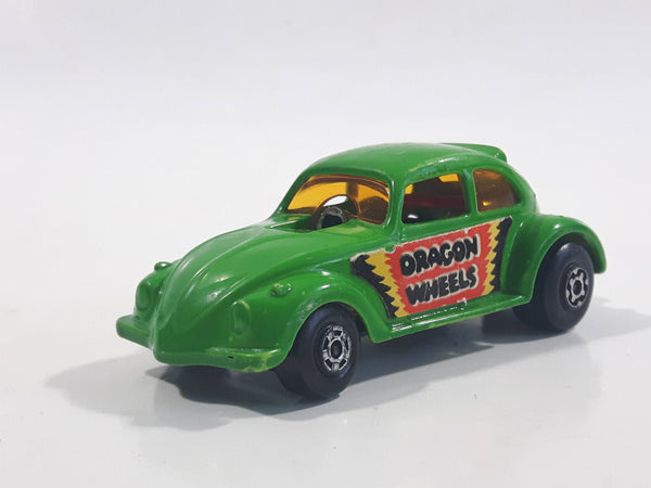 Vintage 1972 Lesney Matchbox No. 43 VW Volkswagen Dragster Lime Green Dragon Wheels Die Cast Toy Car Vehicle