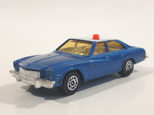 Vintage 1970s Corgi Juniors Buick Regal Police Cops Blue with White Roof Die Cast Toy Car Vehicle Made in Gt. Britain