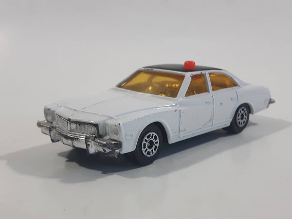 Vintage 1970s Corgi Juniors Buick Regal Police Cops White with Black Roof Die Cast Toy Car Vehicle Made in Gt. Britain