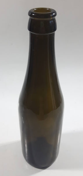 "Vintage Brown Green Amber Glass 9"" Tall Glass Beer Bottle"