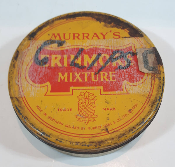 Vintage Murray's Erinmore Mixture Yellow Tin Metal Tobacco Container