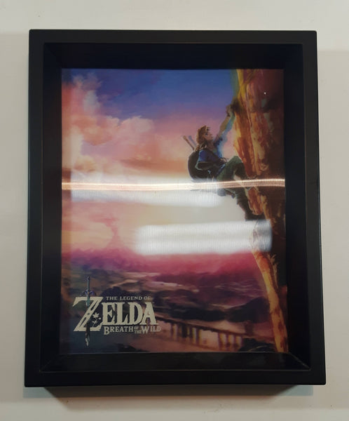2016 Official Nintendo The Legend of Zelda Breath of the Wild 3D Hologram Framed Video Game Wall Decor