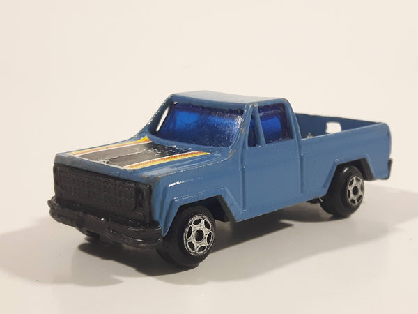 Rare 1988 Super Wheels Blue Pickup Truck Die Cast Toy Car Vehicle