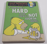 "The Simpsons Deep Thoughts of Homer Simpson ""If Something's Hard To Do, Then It's Not Worth Doing."" Beer Themed 1/4"" x 6"" x 8 3/4"" Small Canvas Picture"