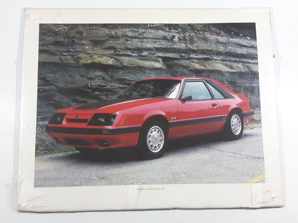 "Vintage 1985 Power Graphics Corp 1985 Mustang GT 5.0 Litre 16"" x 20"" Paper Poster"