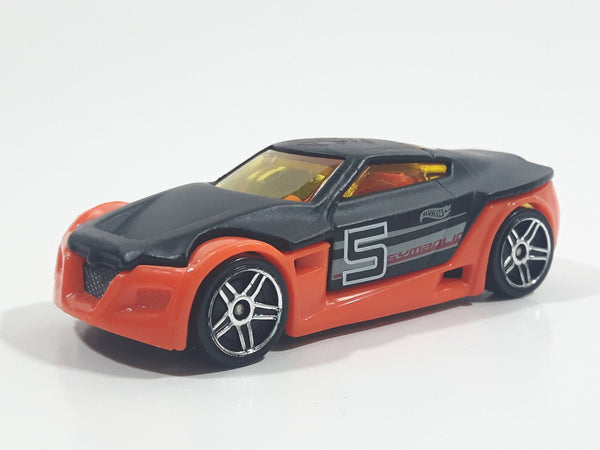HTF 2005 Hot Wheels First Editions Symbolic Black and Dark Orange Die Cast Toy Car Vehicle