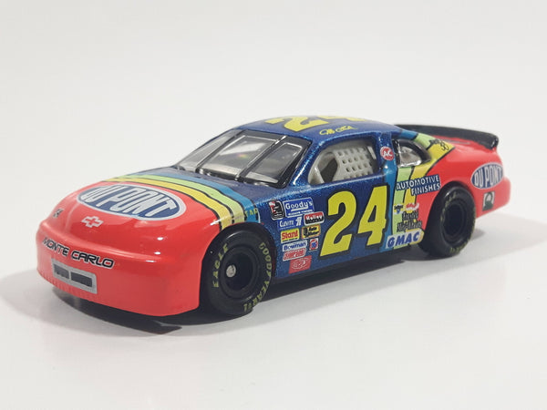 1996 Action Racing Platinum Series Winston Cup Jeff Gordon 1/64 Scale Chevrolet Monte Carlo #24 Dupont Coca Cola Orange and Blue Die Cast Toy Car Vehicle