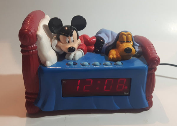 Westclox Disney Mickey Mouse and Pluto Bed Shaped Digital Alarm Clock