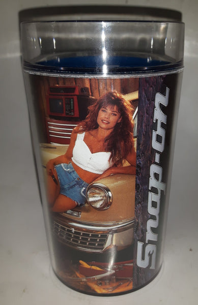 "1993 January February Thermo Serv Snap On Tools Brittany Calendar Girl 6 1/2"" Tall Plastic Beer Mug Cup"