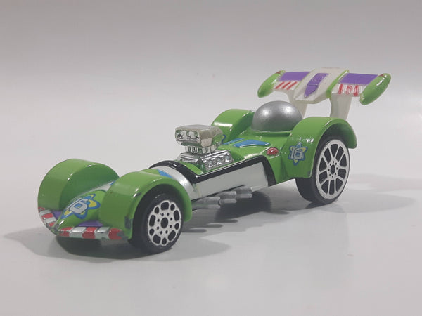 Hasbro Pixar Disney Racers Toy Story Buzz Lightyear Wild Racer Green and White Die Cast Toy Character Car Vehicle