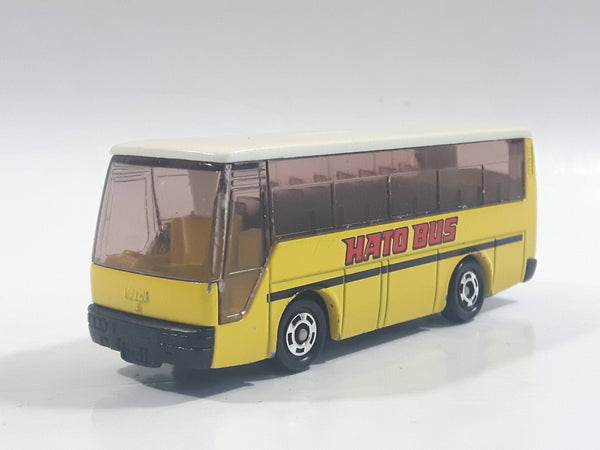"1988 Tomy Tomica No. 41 Isuzu Super Hi-Decker Bus ""Hato Bus"" Yellow and White 1/145 Scale Die Cast Toy Car Vehicle"