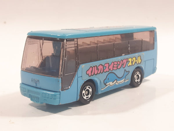 1988 Tomy Tomica No. 41 Isuzu Super Hi-Decker Bus Blue 1/145 Scale Die Cast Toy Car Vehicle