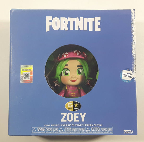 2018 Funko Epic Games Fortnite 5 Star Zoey Vinyl Figure with Accessories New in Box