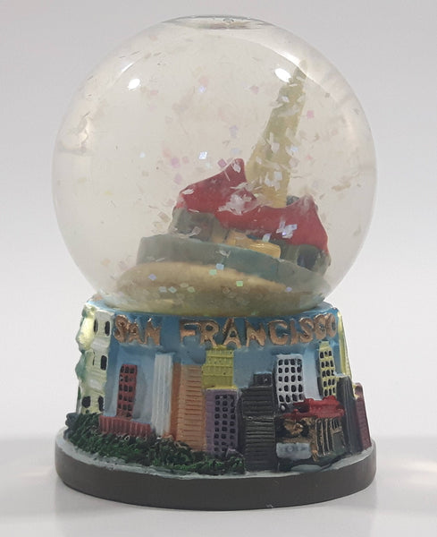 "San Francisco 3D City Themed 2 1/2"" Miniature Snow Globe - Tilted"
