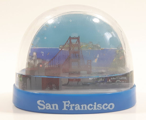 "San Francisco Golden Gate Bridge Themed 2 1/8"" Miniature Plastic Snow Globe - Low Liquid"