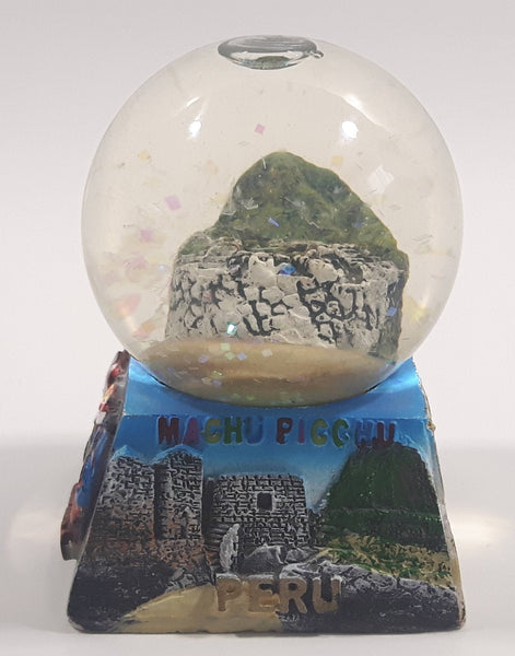 "Machu Picchu, Peru 2 1/2"" Miniature Snow Globe - Tilted"