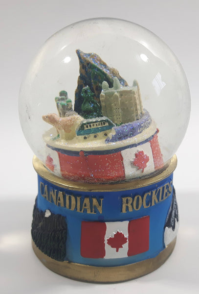 "Canadian Rockies 3 1/2"" Miniature Snow Globe - Tilted"