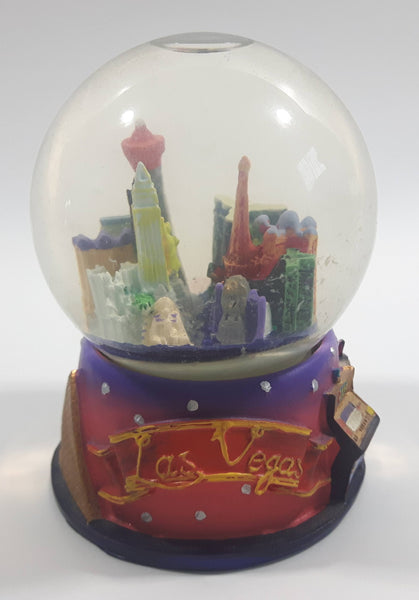 "Las Vegas, Nevada 3 1/2"" Miniature Snow Globe - Tilted"