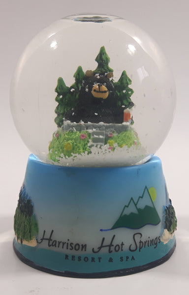 "Harrison Hot Springs Resort & Spa Bear in Hot Tub 2 1/2"" Miniature Snow Globe"