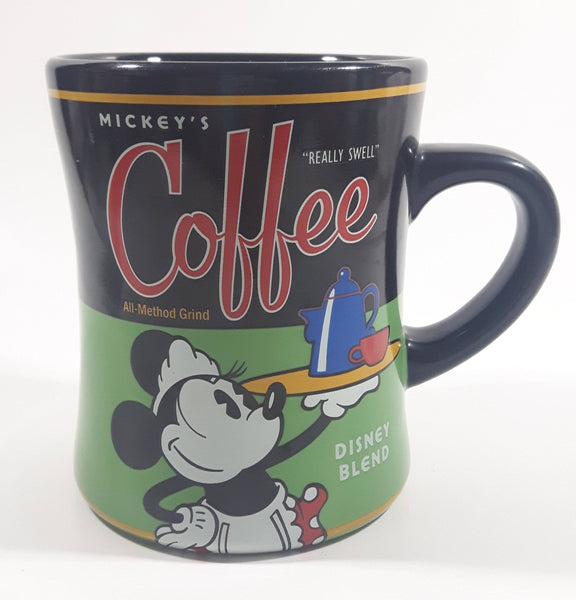 "Disney Mickey's Coffee ""Really Swell"" All-Method Grind Disney Blend Black and Green Ceramic Coffee Mug Cup"