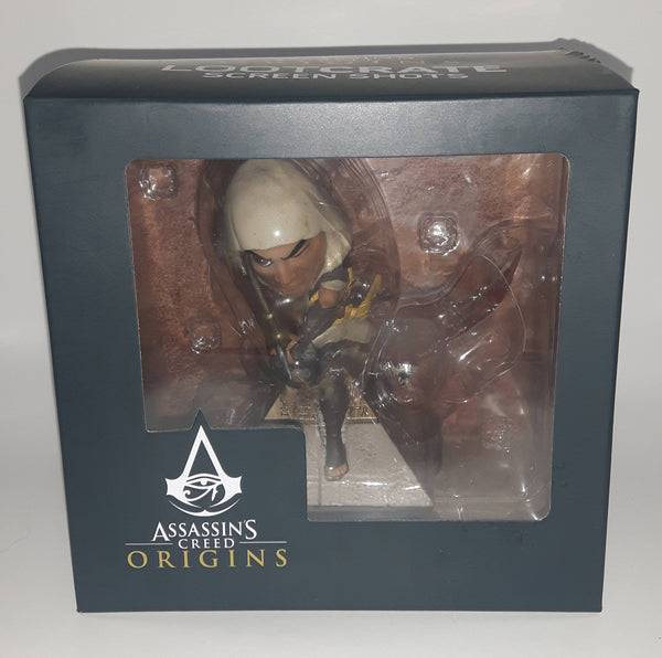 2017 Ubisoft Assassins Creed Origins Bayek Lootcrate Screen Shots Figure with Accessories New in Box