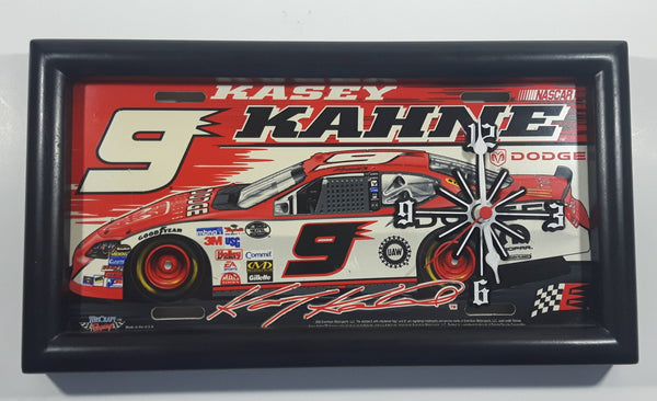 2006 Evernham Motorsports WinCraft Racing NASCAR #9 Kasey Kahne Dodge Framed License Plate Clock