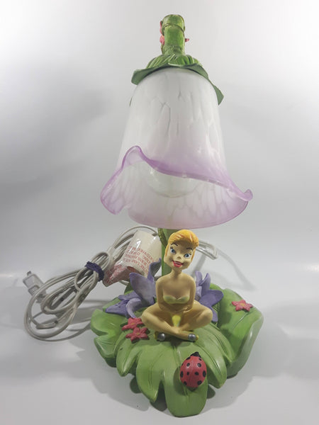 2004 Hampton Bay Disney Tinkerbell Flowers and Vine Lamp with Purple and White Bell Tulip Shade - No Wings
