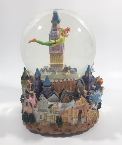 "2001 Hallmark Disney's Peter Pan 50 Years of Adventure! 6"" Tall Musical Snow Globe with Motion"